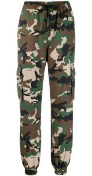 Military Style Camouflage Trousers - Danielle Guizio