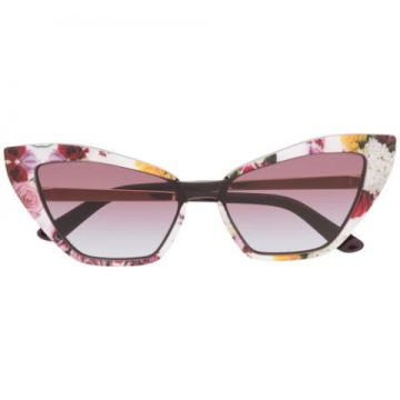 Floral Print Cat Eye Sunglasses - Dolce & Gabbana Eyewear