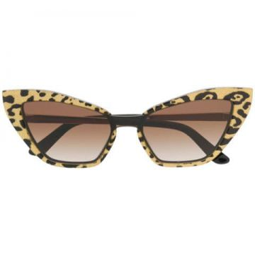 Leopard Print Cat Eye Sunglasses - Dolce & Gabbana Eyewear