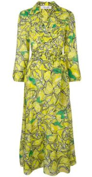 Lemon Print Maxi Dress - Dvf Diane Von Furstenberg