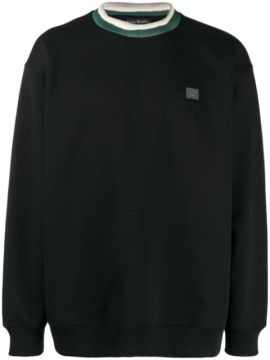 Face Patch Crew Neck Sweatshirt - Acne Studios