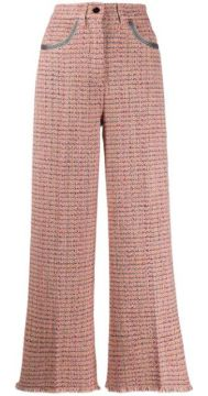 Woven Cropped Trousers - Etro