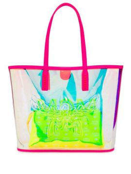 Contrast Logo Shopping Tote - Mcm