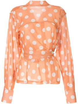 Polka Dot Wrap Blouse - Bambah