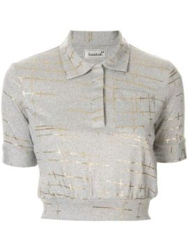 Marble Cropped Polo Top - Bambah