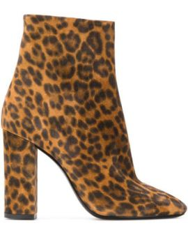 Ankle Boot Lou Animal Print - Saint Laurent