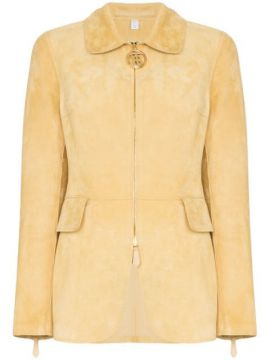 Tiverton Zipped Suede Jacket - Burberry