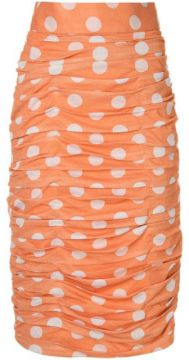 Polka Dot Ruched Skirt - Bambah