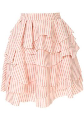 Struped Ruffle Skirt - Bambah