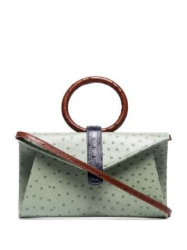 Valery Ostrich-effect Crossbody Bag - Complet