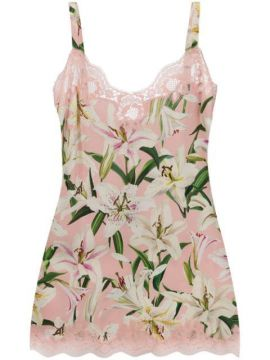 Slip Dress Com Estampa Floral - Dolce & Gabbana Underwear