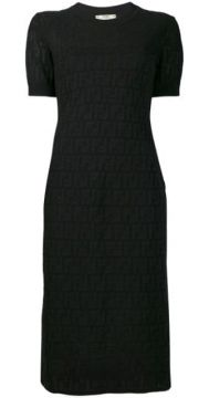 Loungette Logo Pattern Dress - Fendi