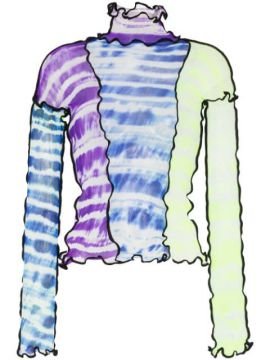 Panelled Tie-dye Top - Asai