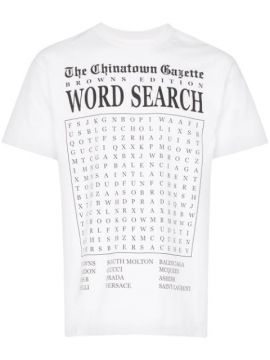 X Browns Word Search Print T-shirt - Chinatown Market