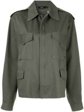 Peached Twill Army Jacket - Bassike