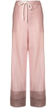 Check Paneled Trousers - Bassike