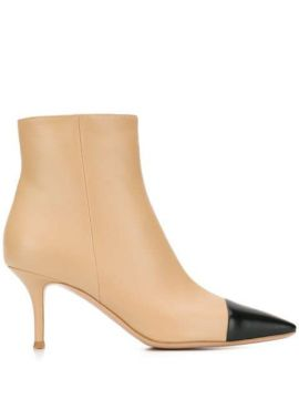 Contrast Toe Ankle Boots - Gianvito Rossi