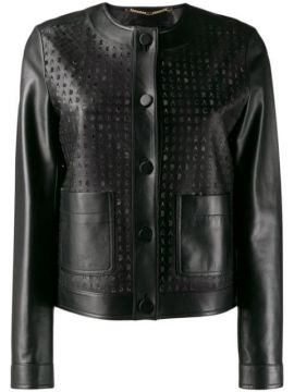 Perforated Leather Jacket - Escada