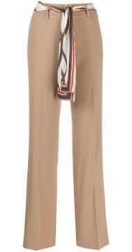 Scarf Belted Tailored Trousers - Cambio