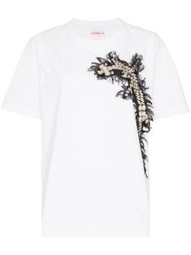 Embroidered Cross Appliqué T-shirt - Charles Jeffrey Loverbo
