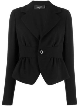 Cropped Cinched Waist Blazer - Dsquared2
