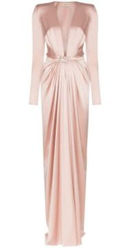 Ruched Belted Silk Gown - Alexandre Vauthier