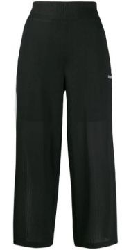 Textured Striped Trim Trousers - Dkny