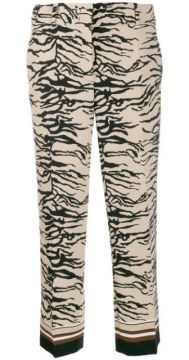 Zebra Print Cropped Trousers - Cambio