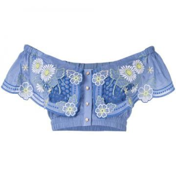Blusa Cropped honeycomb Daisy - Alice Mccall