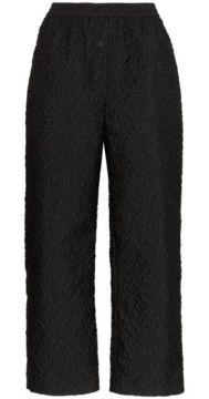 Textured Floral Cropped Trousers - Cecilie Bahnsen