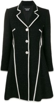Textured Tweed Jacket - Boutique Moschino