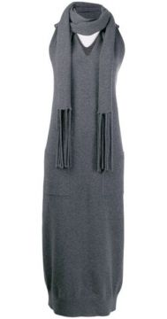 Scarf Detail Knit Dress - Salvatore Ferragamo