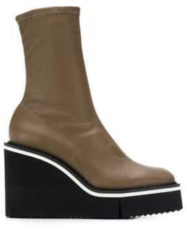 Bliss Wedge Boots - Clergerie