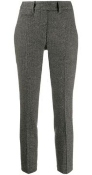 Striped Cropped Trousers - Dondup