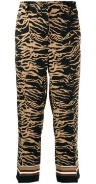 Patterned Cropped Trousers - Cambio