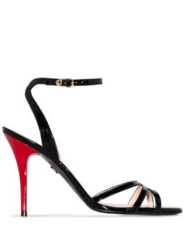 Contrast Heel Sandals - Charles Jourdan