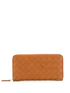 Zip-around Wallet In Maxi Intrecciato - Bottega Veneta