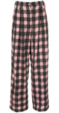 Wide Checked Trousers - Dawei