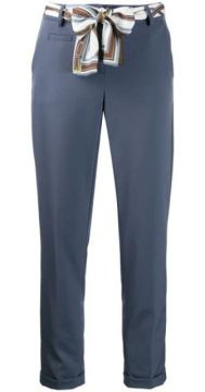 Cropped Belted Trousers - Cambio