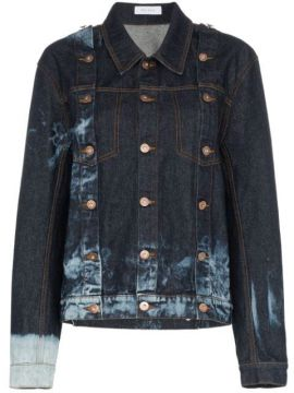 Buttoned Bleach Denim Jacket - Delada