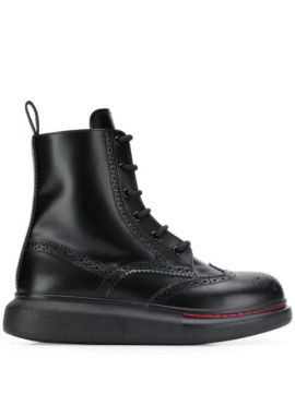 Hybrid Lace Up Boots - Alexander Mcqueen