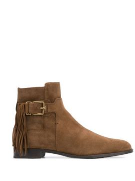 Ankle Boot Com Franjas - Tods