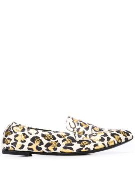 Pointed Leopard Loafers - Agl