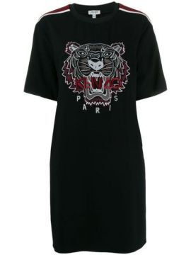 Tiger Embroidered T-shirt Dress - Kenzo