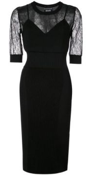 Lace Insert Dress - Boutique Moschino