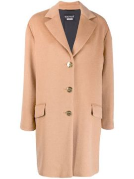 Single Breasted Coat - Boutique Moschino
