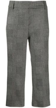 Cropped Check Trousers - Dondup
