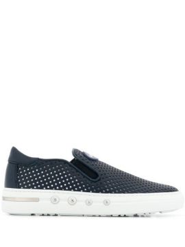 Perforated Detail Slip-on Trainers - Baldinini