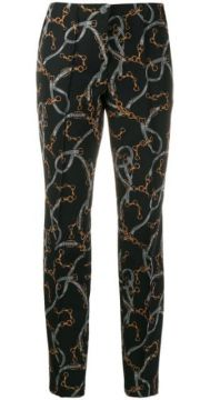 Chain Print Trousers - Cambio