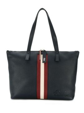 Logo Stripe Tote Bag - Bally